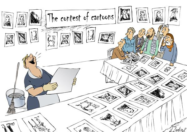 Карикатура: Конкурс карикатур, Александр Зудин
