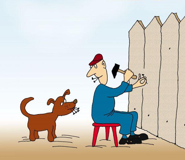 Карикатура: Помощник, Николай Кинчаров