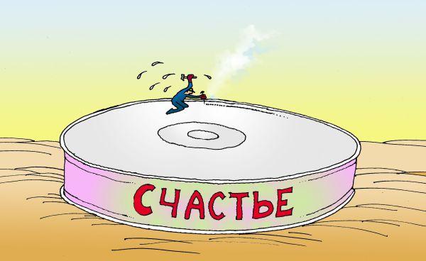 Карикатура: Тяжкая работа, Николай Кинчаров