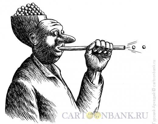Карикатура: шарики в голове, Гурский Аркадий