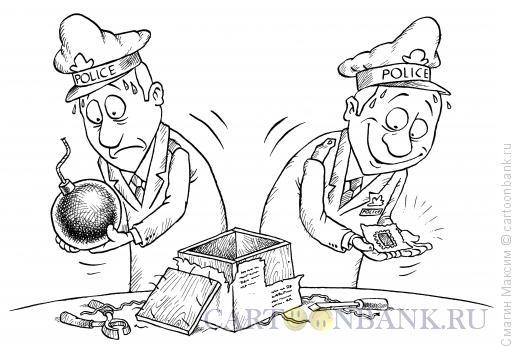 Карикатура: Сюрприз в посылке, Смагин Максим