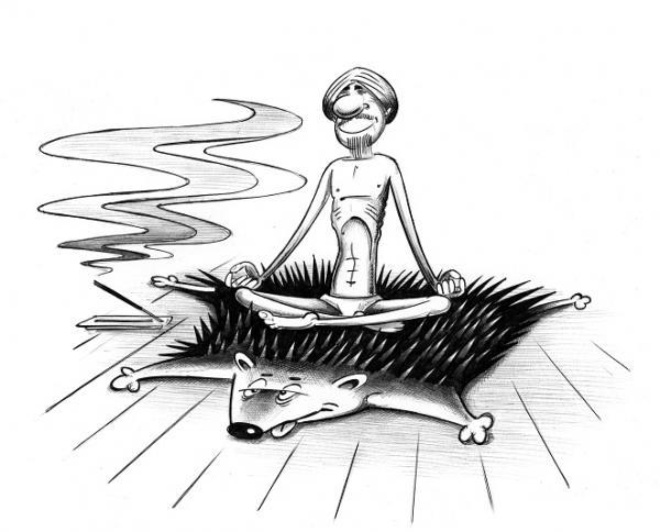 Карикатура: Йог, Сергей Корсун