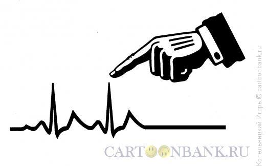 Карикатура: кардиограмма, Копельницкий Игорь