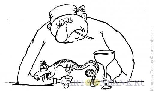 Карикатура: Проклятье!, Мельник Леонид