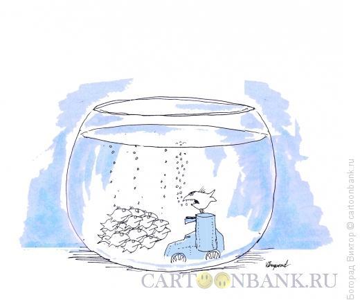 Карикатура: Октябрь в аквариуме, Богорад Виктор