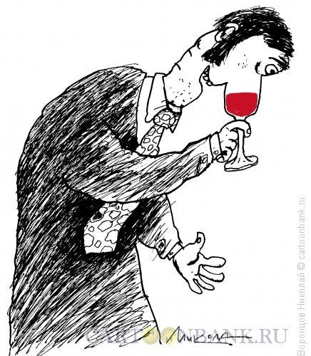 Карикатура: Нос-бокал, Воронцов Николай