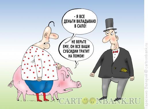 Карикатура: Свиноводство, Тарасенко Валерий