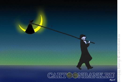 Карикатура: Бродяга ночи, Богорад Виктор