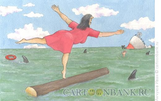 Карикатура: гимнастка по неволе, Анчуков Иван