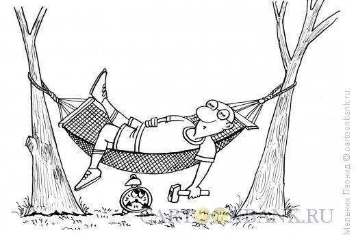Карикатура: Полуденный отдых, Мельник Леонид