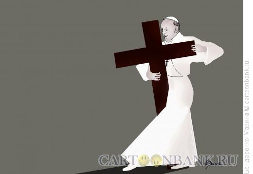 Карикатура: Танго и Папа, Бондаренко Марина