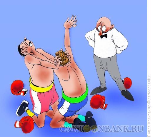 Карикатура: Бокс, Попов Александр