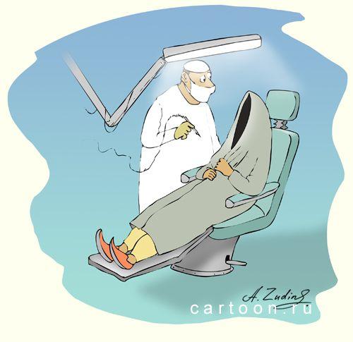 Карикатура: Гюльчатай, Александр Зудин
