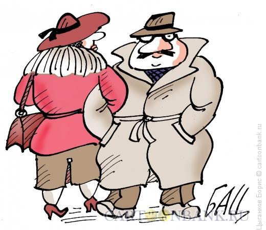 Карикатура: Прогулка, Цыганков Борис