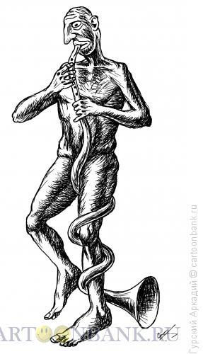 Карикатура: трубач, Гурский Аркадий