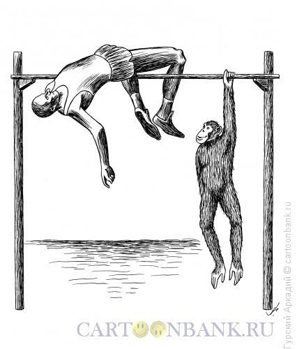 Карикатура: прыгун в высоту, Гурский Аркадий