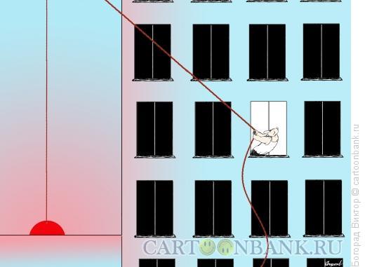 Карикатура: Подъем солнца, Богорад Виктор