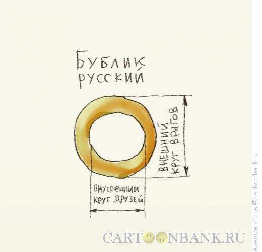 Карикатура: русский бублик, Алёшин �горь