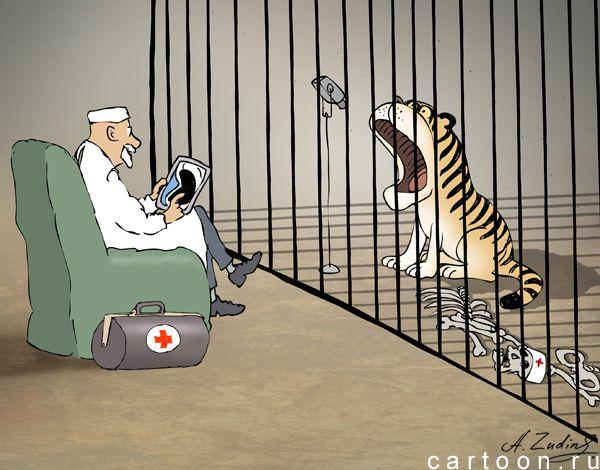 Карикатура: Телемедицина, Александр Зудин