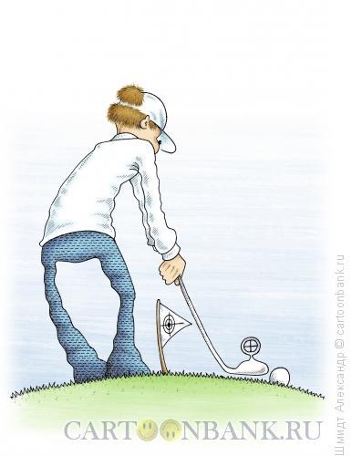 Карикатура: Прицельный удар, Шмидт Александр