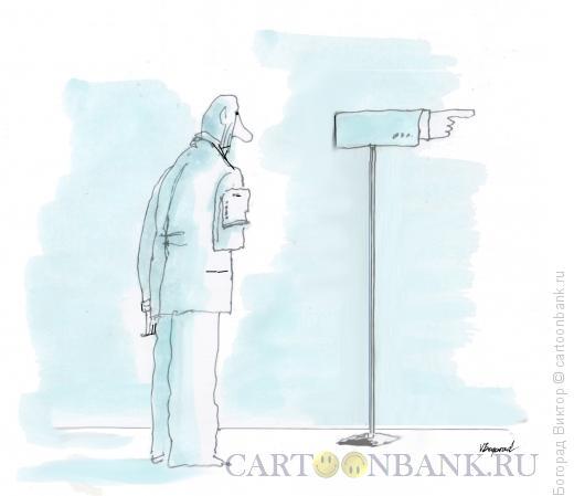 Карикатура: Указатель, Богорад Виктор