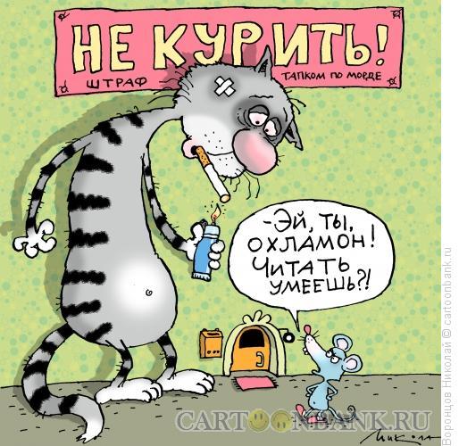 Карикатура: Не курить!, Воронцов Николай