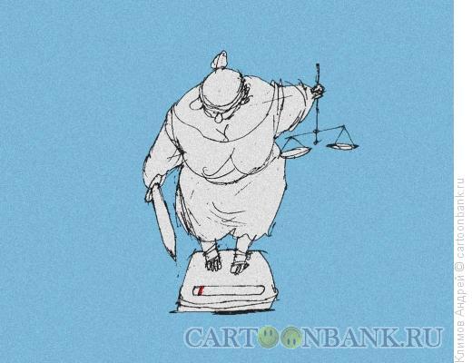 Карикатура: Весы, Климов Андрей