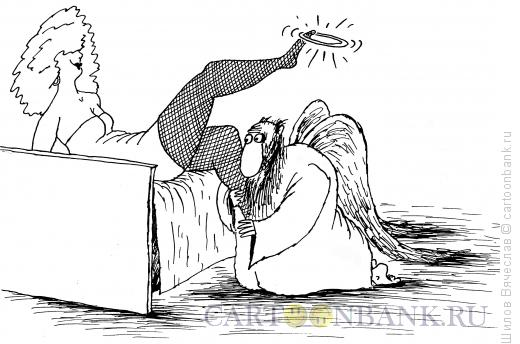 Карикатура: Влюбленный ангел, Шилов Вячеслав