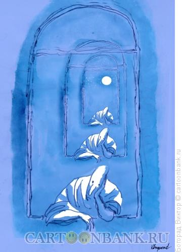 Карикатура: Ночные думы, Богорад Виктор