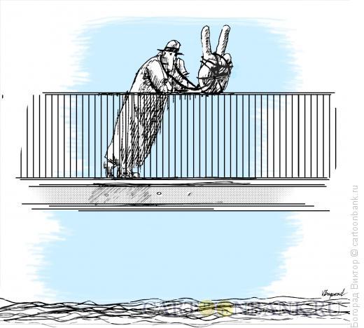 Карикатура: Победитель, Богорад Виктор