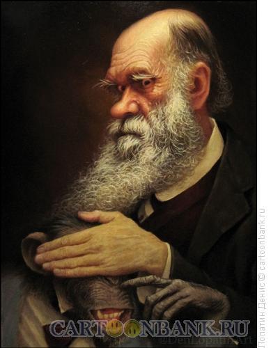 Карикатура: Charles Darwin, Лопатин Денис