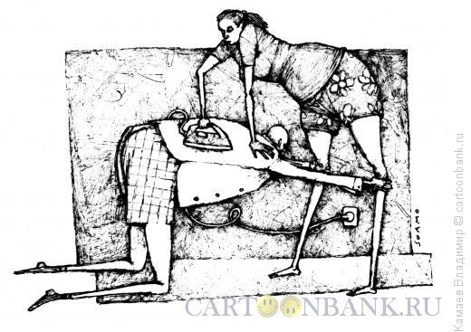 Карикатура: На работу, Камаев Владимир