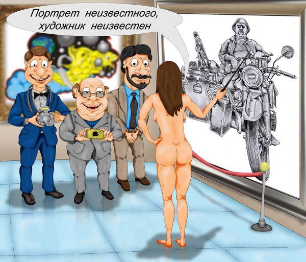 Карикатура: Ночь в музее, Дмитрий Субочев