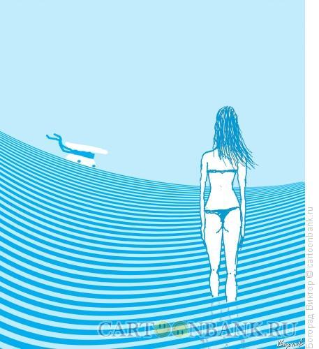 Карикатура: Море волнуется, Богорад Виктор