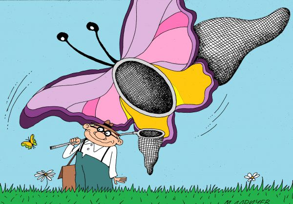 Карикатура: бабочки, михаил ларичев