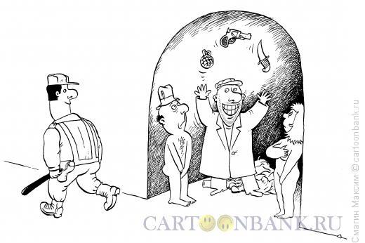 Карикатура: Жонглер, Смагин Максим