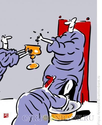 Карикатура: Пока начальник умывает руки, Иорш Алексей