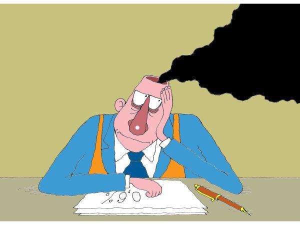 Карикатура: Пролетарий умственного труда, Михаил Ларичев