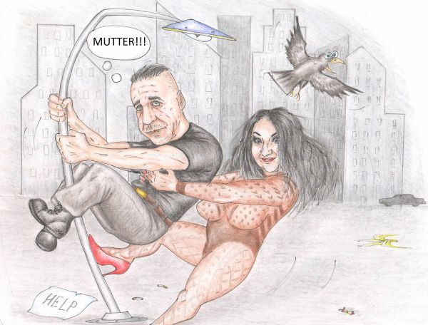 Карикатура: Лолита и Рамштайн. За минуту до селфи, Павел Валерьев