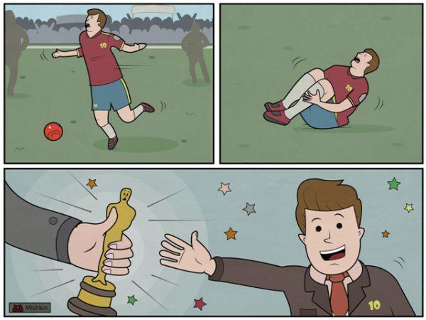 Карикатура: Лучшая актерская игра