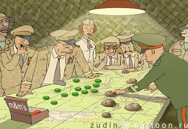Карикатура: Совместные учения, Александр Зудин