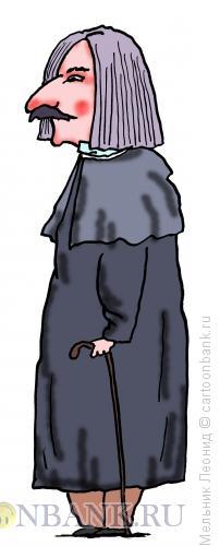 Карикатура: Гоголь, Николай Васильевич, Мельник Леонид