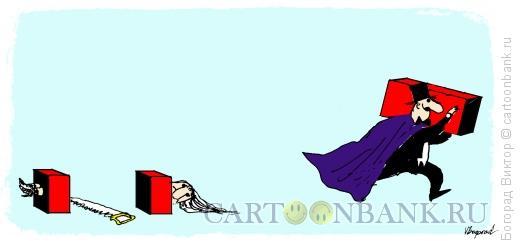 Карикатура: Фокусник, Богорад Виктор