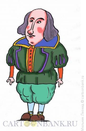 Карикатура: Шекспир Уильям, Мельник Леонид