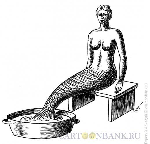 Карикатура: Русалка, Гурский Аркадий