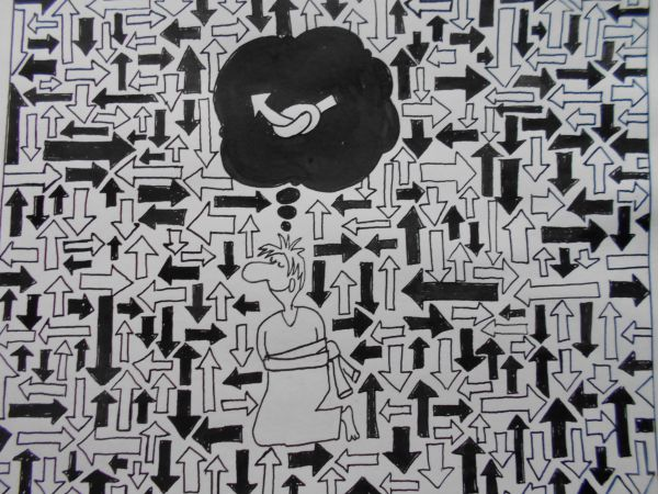 Карикатура: Псих, Петров Александр