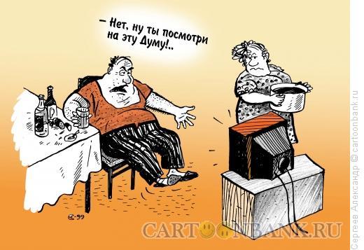 Карикатура: Дума и электорат, Сергеев Александр
