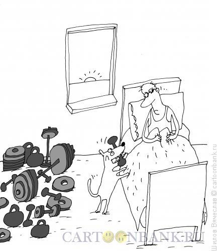 Карикатура: На зарядку!, Шилов Вячеслав