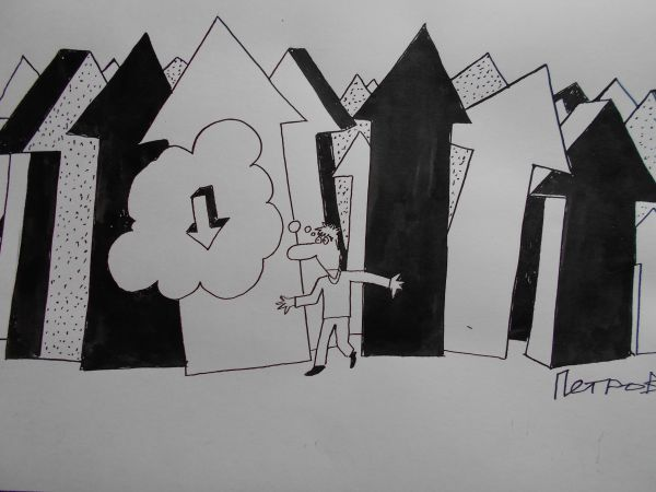 Карикатура: Направление, Петров Александр