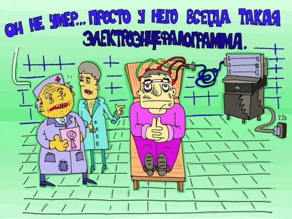 Карикатура: иногда не отличить, leon2008
